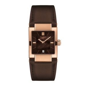 Tissot T02 Rose Gold Brown Mother-Of-Pearl Watch